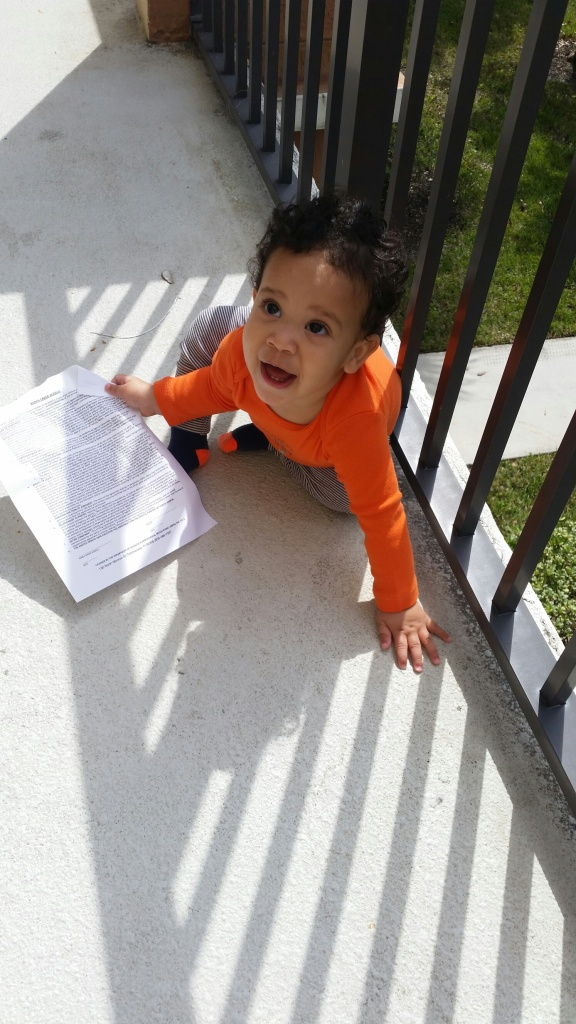 Congrats! to little Liam for getting his first Modeling Contract! He wants to show the world!!! Too cute! LOL